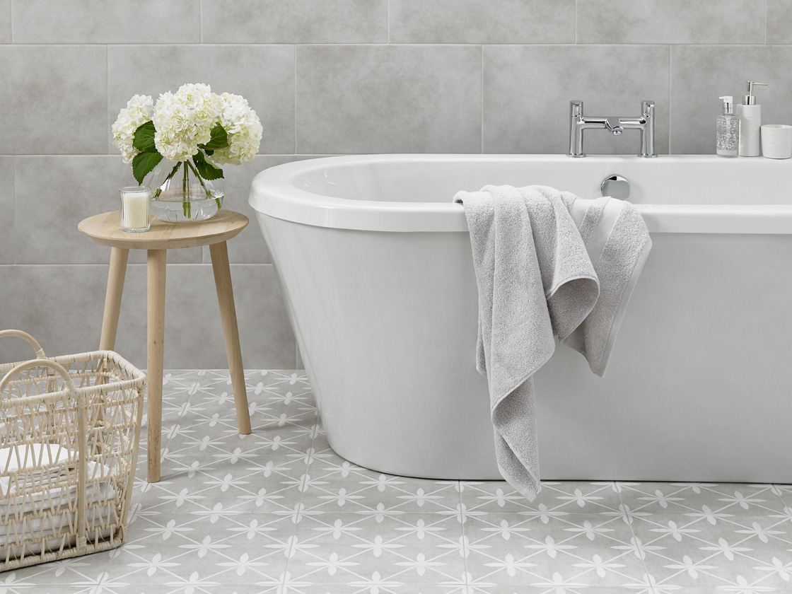 A Laura Ashley Tiled Bathroom British Ceramic Tile
