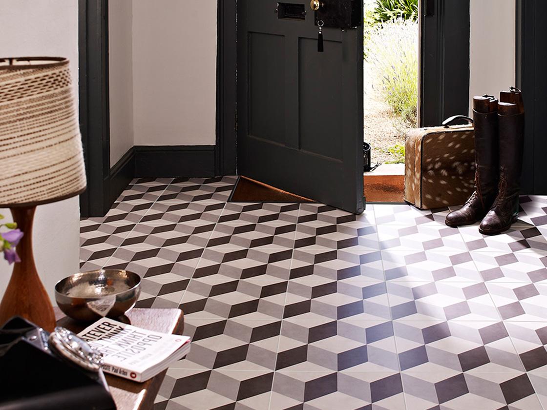 Geometric Floor British Ceramic Tile