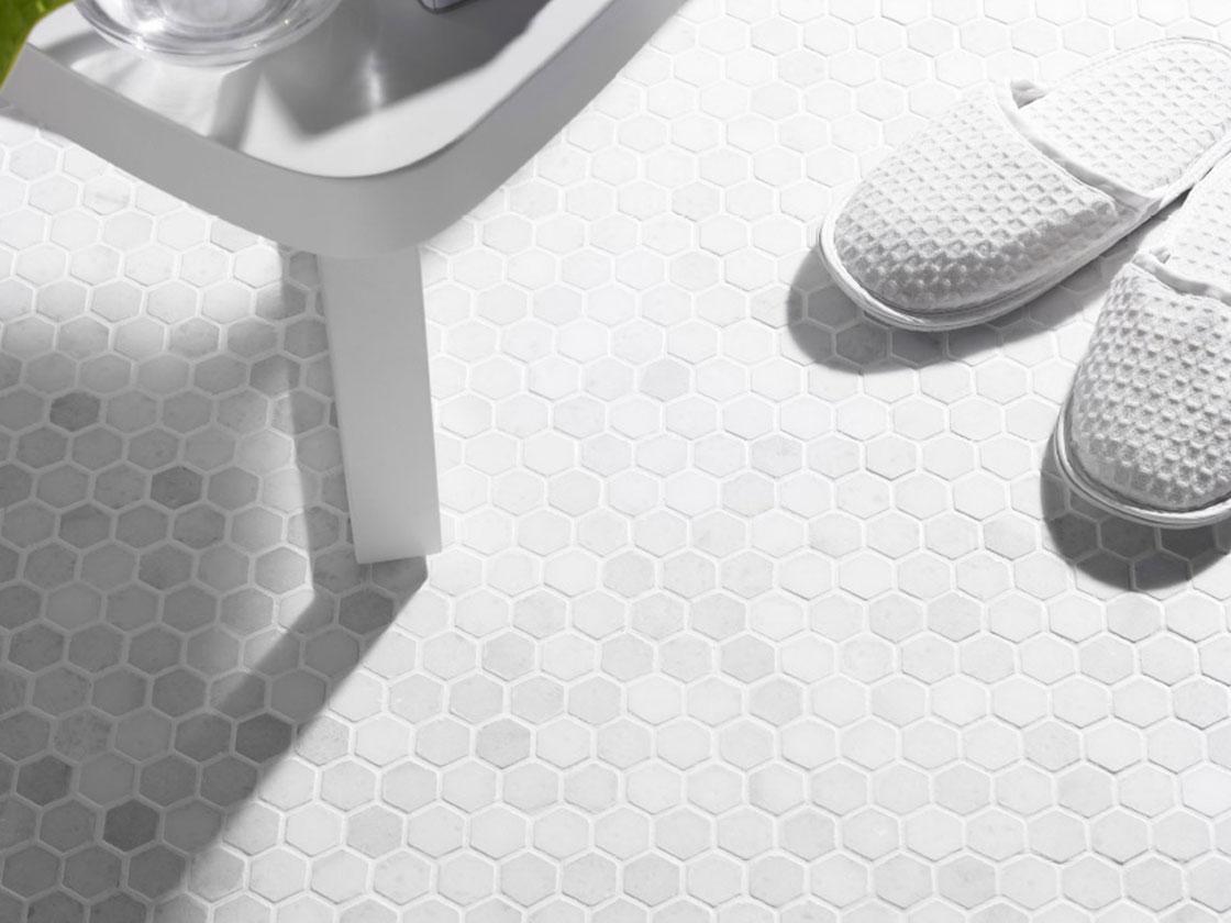 White hex british ceramic tile white hex dailygadgetfo Choice Image