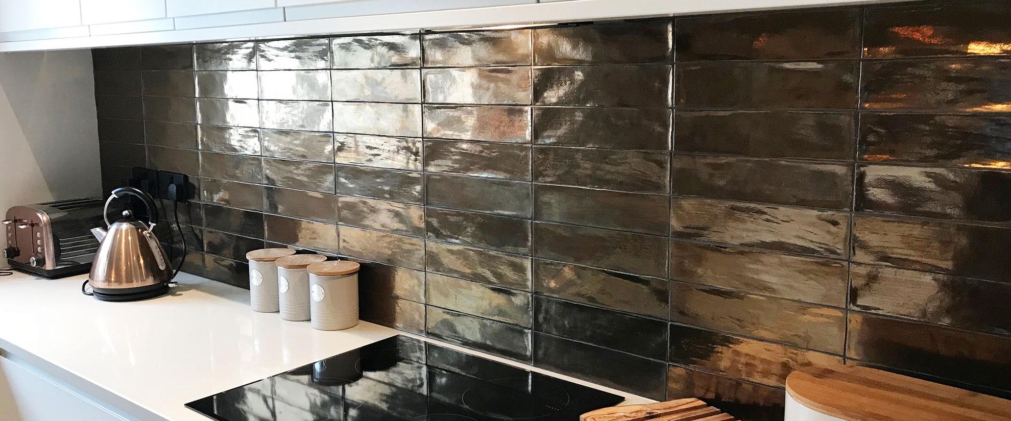 Fi Metallic Kitchen Makeover British Ceramic Tile