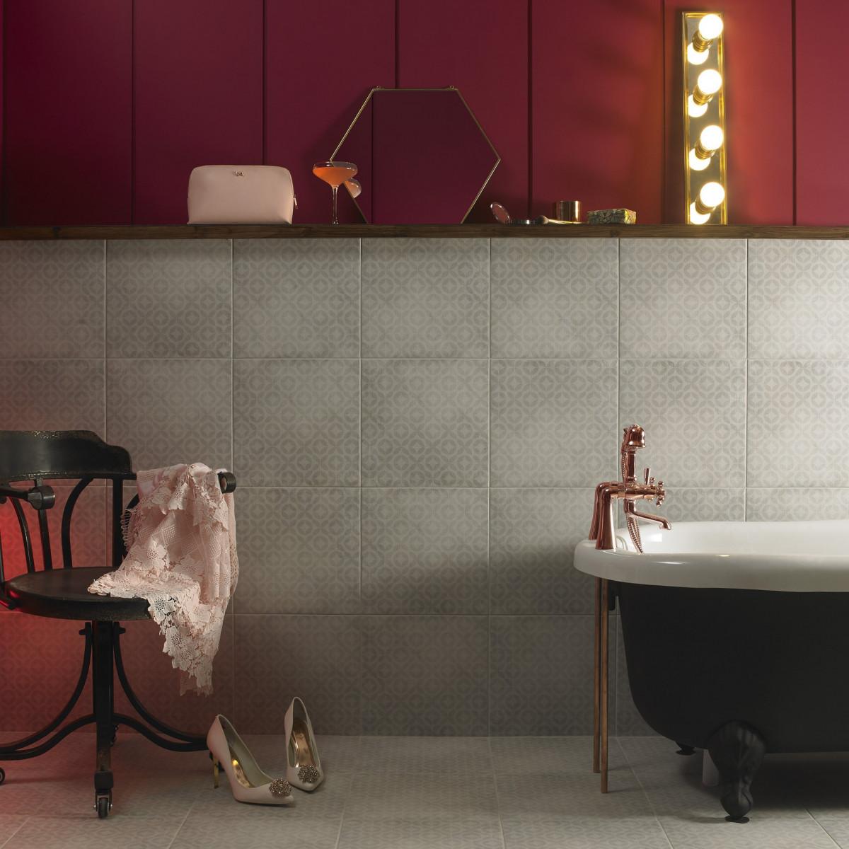 Ted baker grey geometric wall floor british ceramic tile dailygadgetfo Choice Image