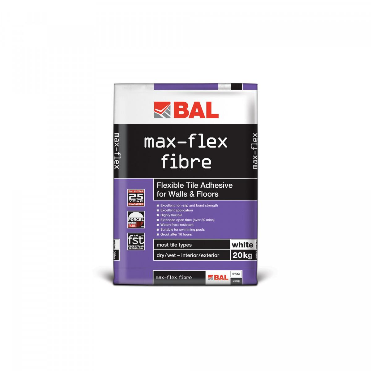 BAL Adhesive BAL Max-flex Fibre Adhesive Grey 20 Kg