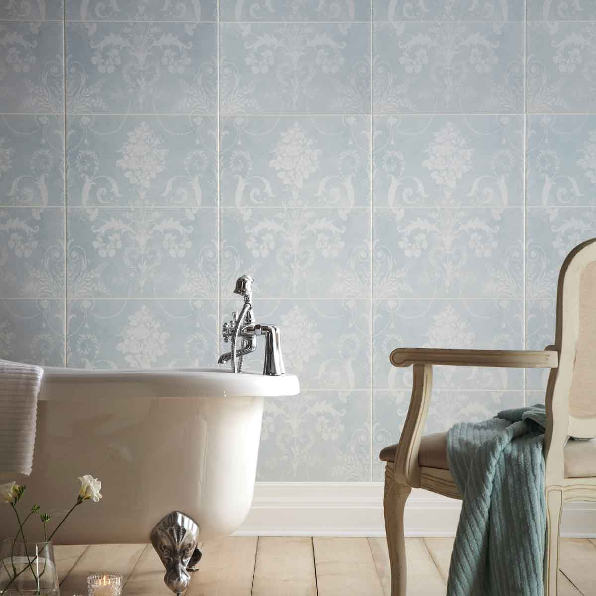 Laura ashley josette duck egg decor wall part a british ceramic tile dailygadgetfo Gallery