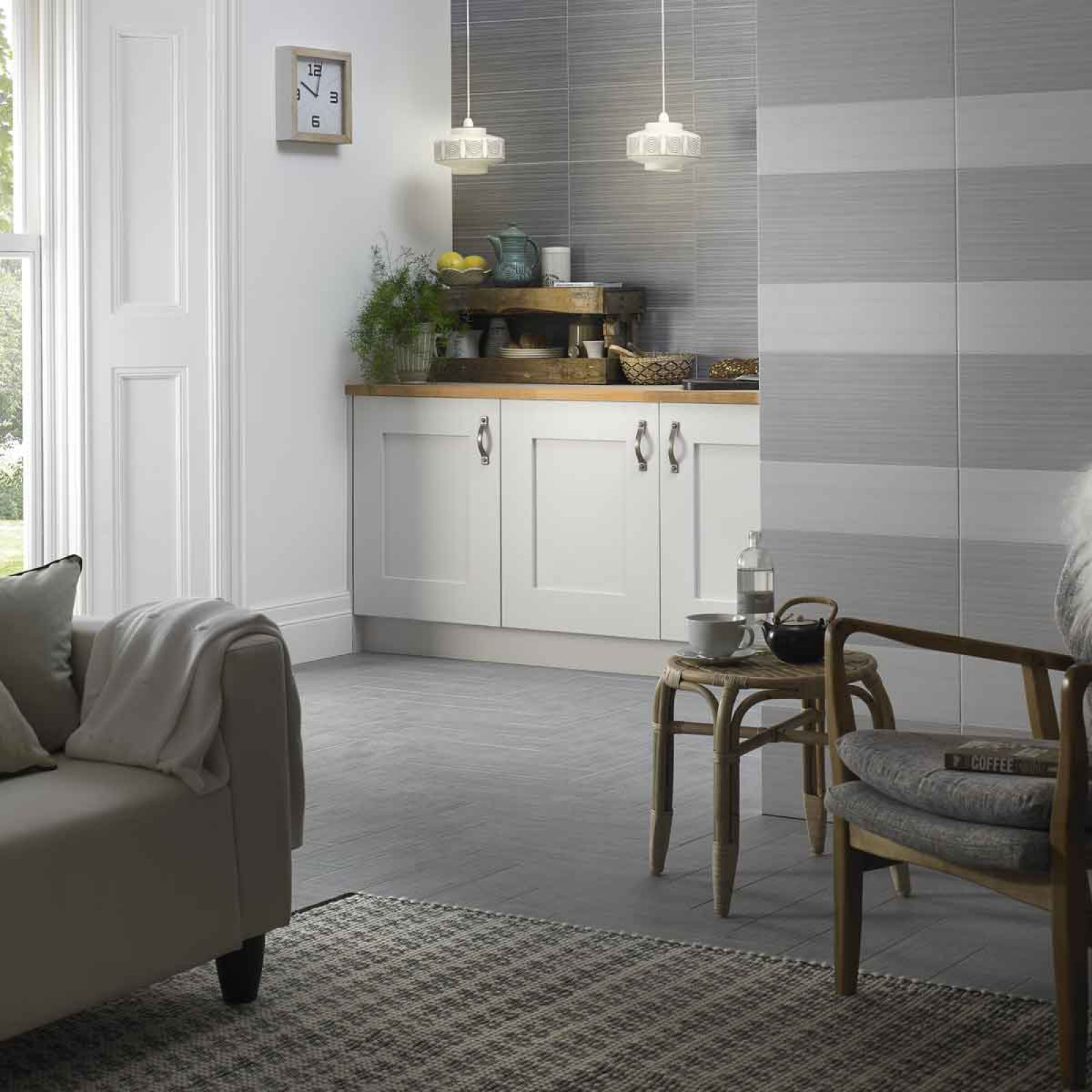 Night Dark Grey Matt Wall British Ceramic Tile Luna