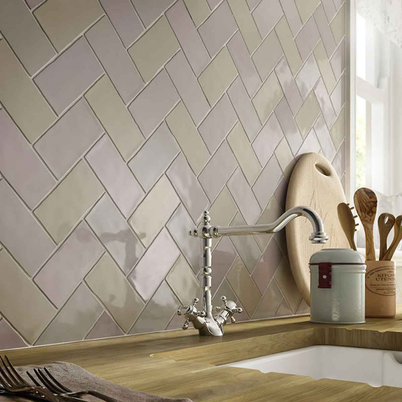 Laura Ashley Cobblestone Wall British Ceramic Tile