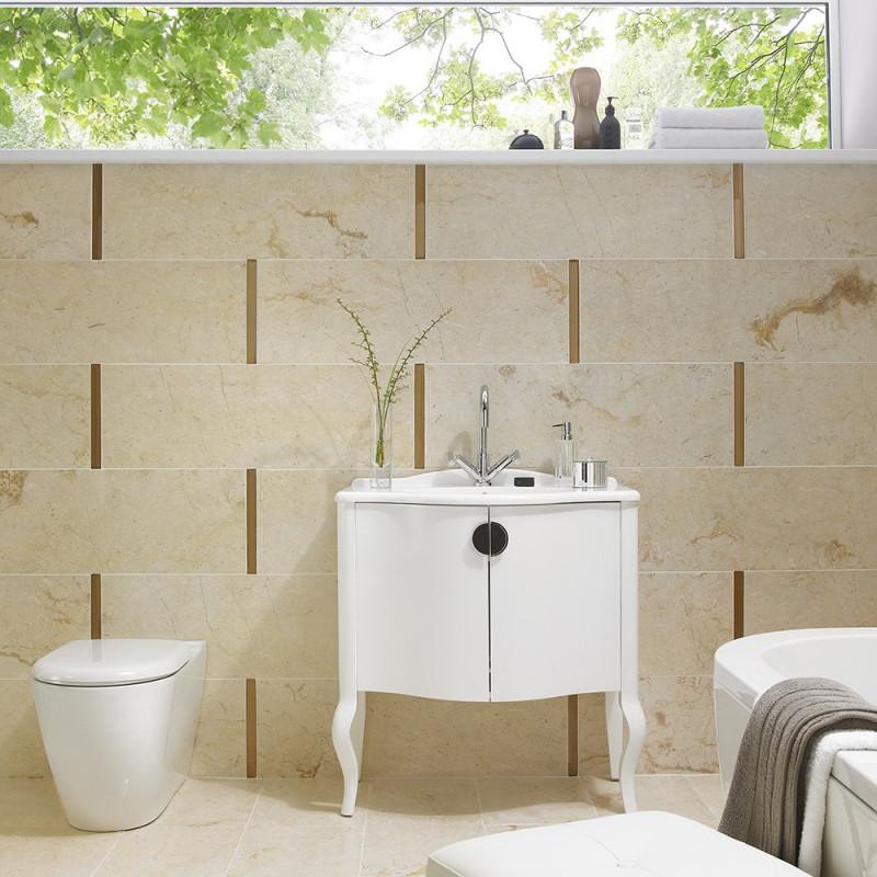Elite Stone Cream Gloss Floor British Ceramic Tile