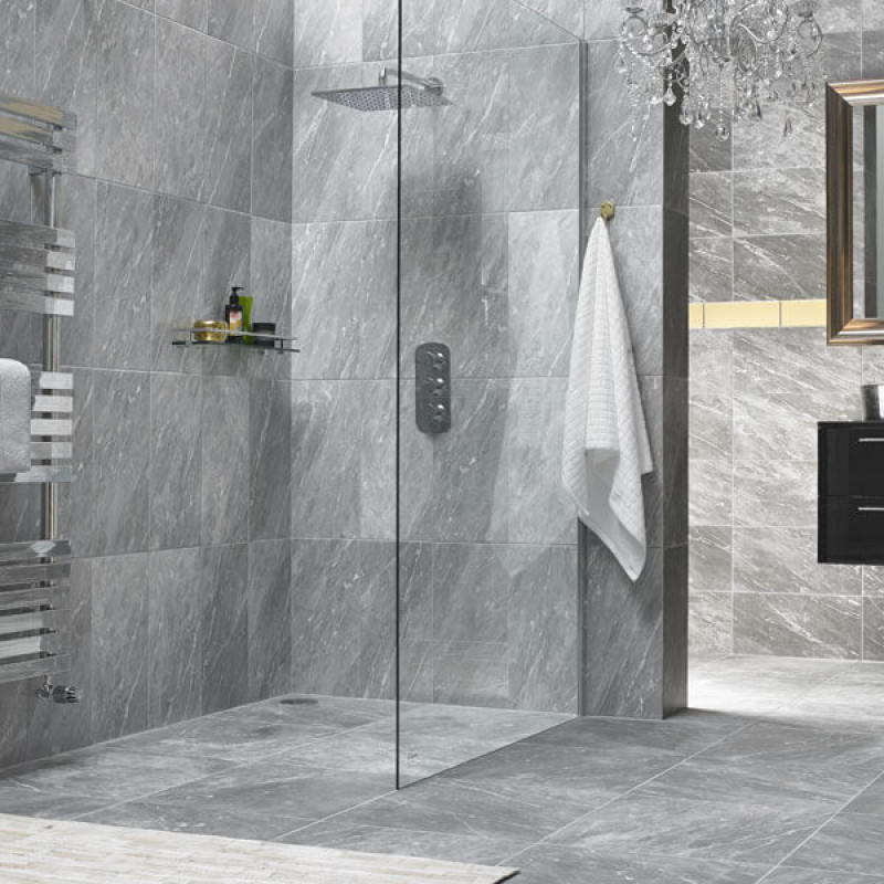 HD Harmony Dark Grey Marble Floor